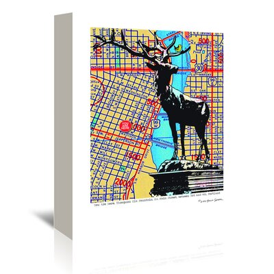 Americanflat 'Thompson Elk Foundation Portland' by Lyn Nance Sasser and Stephen Sasser Graphic Art Wrapped on Canvas