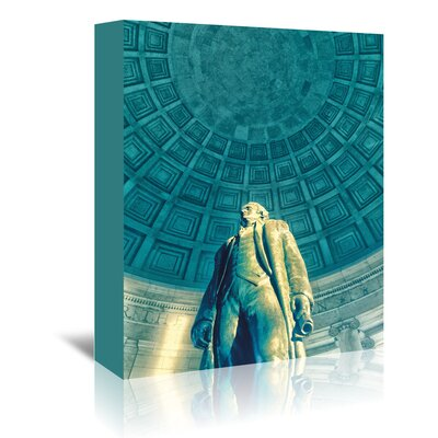 Americanflat 'Jefferson Memorial 6' by Golie Miamee Photographic Print Wrapped on Canvas