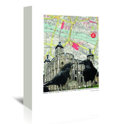 Americanflat Tower of London' by Lyn Nance Sasser Graphic Art Wrapped on Canvas
