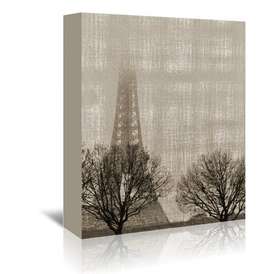 Americanflat Eiffel in The Fog' by Golie Miamee Graphic Art Wrapped on Canvas