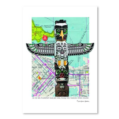 Americanflat 'Totem Vancouver' by Lyn Nance Sasser and Stephen Sasser Graphic Art