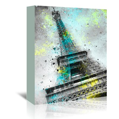Americanflat City Art Paris Eiffel Tower III' by Melanie Viola Graphic Art Wrapped on Canvas