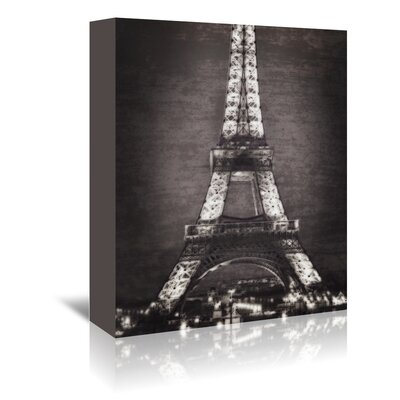 Americanflat Eiffel Lights B&W' by Golie Miamee Graphic Art Wrapped on Canvas