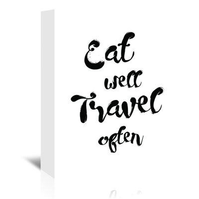 Americanflat 'Eat Well Travel Often' by Pop Monica Typography Wrapped on Canvas