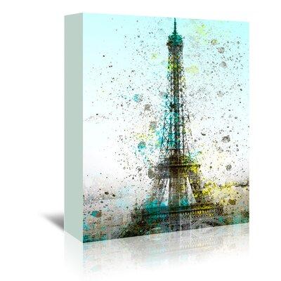 Americanflat City Art Paris Eiffel Tower' by Melanie Viola Graphic Art Wrapped on Canvas
