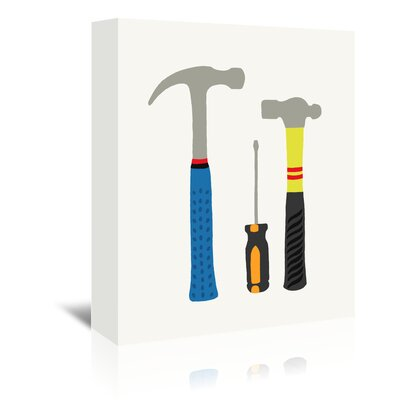Americanflat Tools 1' by Jorey Hurley Art Print Wrapped on Canvas