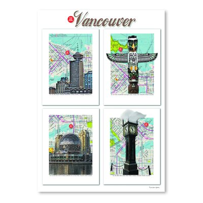 Americanflat 'Vancouver British Columbia' by Lyn Nance Sasser and Stephen Sasser Graphic Art