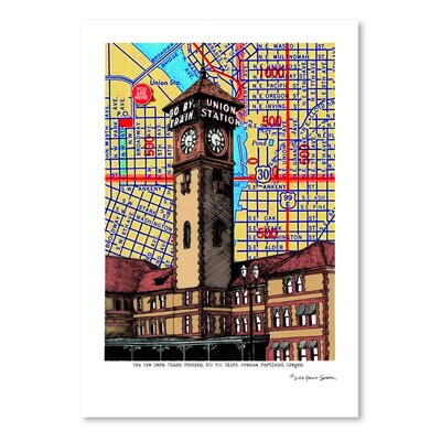 Americanflat 'Union Station Portland' by Lyn Nance Sasser and Stephen Sasser Graphic Art