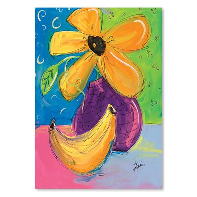 Americanflat 'Yellow Flower and Banana' by Terri Einer Art Print