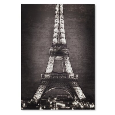 Americanflat Eiffel Lights B&W' by Golie Miamee Graphic Art