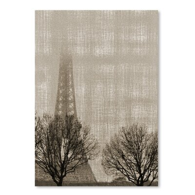 Americanflat 'Eiffel in The Fog' by Golie Miamee Graphic Art