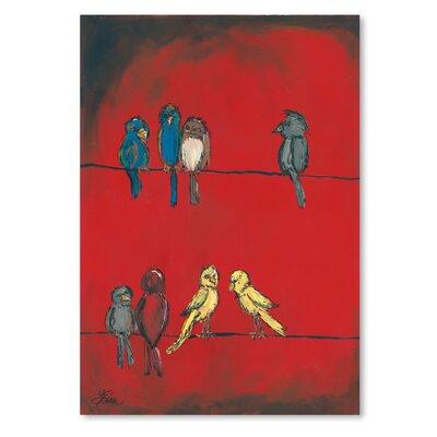 Americanflat 'Birds on A Wire' by Terri Einer Art Print