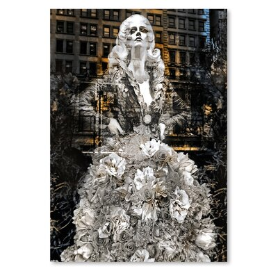 Americanflat Nyc White Dress' by Golie Miamee Graphic Art
