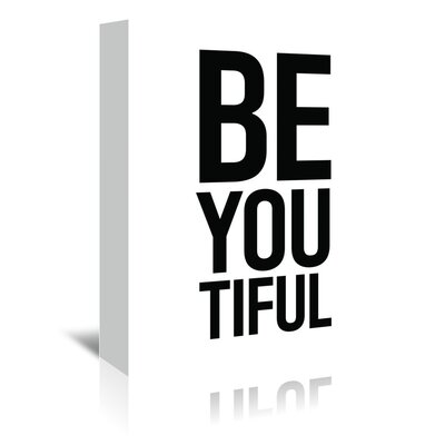 Americanflat 'Beyoutiful' by Pop Monica Typography Wrapped on Canvas