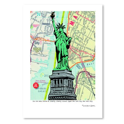 Americanflat Statue of Liberty - Nyc' by Lyn Nance Sasser Graphic Art