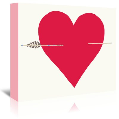 Americanflat 'Heart with Arrow' by Jorey Hurley Art Print Wrapped on Canvas