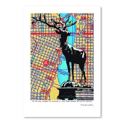 Americanflat 'Thompson Elk Foundation Portland' by Lyn Nance Sasser and Stephen Sasser Graphic Art