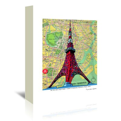 Americanflat 'Tokyo Tower' by Lyn Nance Sasser and Stephen Sasser Graphic Art Wrapped on Canvas