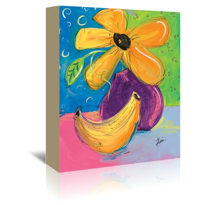 Americanflat 'Yellow Flower and Banana' by Terri Einer Art Print Wrapped on Canvas
