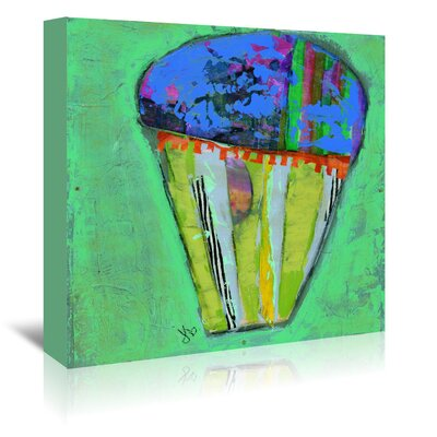 Americanflat 'Cupcake III (Blue Icing)' by Julie Beyer Art Print Wrapped on Canvas