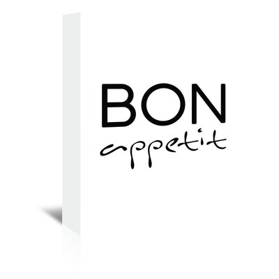 Americanflat 'Bon Appetit' by Pop Monica Typography Wrapped on Canvas