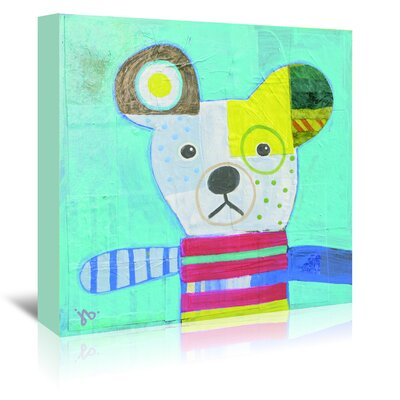 Americanflat Dog' by Julie Beyer Art Print Wrapped on Canvas