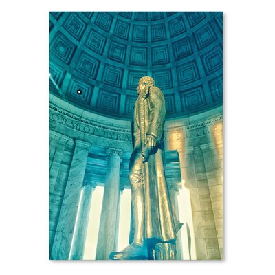 Americanflat 'Jefferson Memorial 3' by Golie Miamee Photographic Print