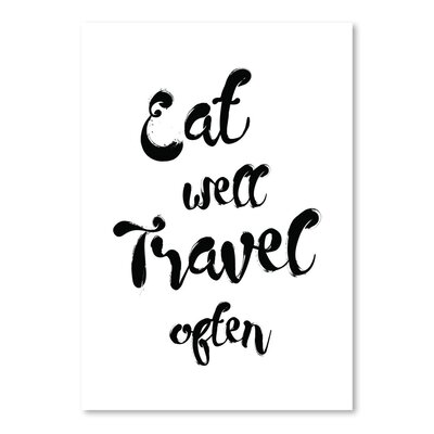 Americanflat 'Eat Well Travel Often' by Pop Monica Typography