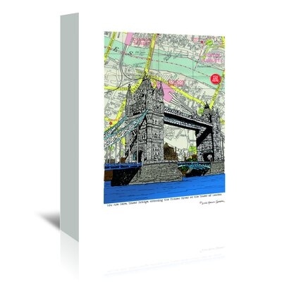 Americanflat 'Tower Bridge London' by Lyn Nance Sasser and Stephen Sasser Graphic Art Wrapped on Canvas