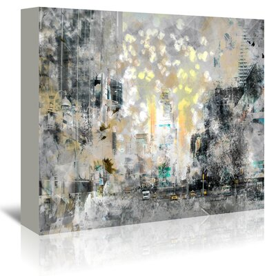 Americanflat 'City Art Manhattan Sunflower' by Melanie Viola Graphic Art Wrapped on Canvas