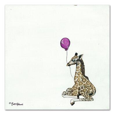 Americanflat 'Nursery Giraffe' by Britt Hallowell Art  Print