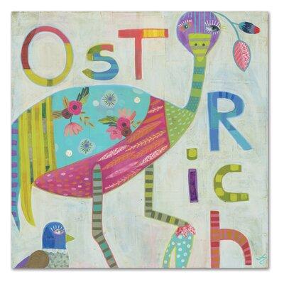 Americanflat Ostrich' by Julie Beyer Art Print