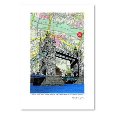 Americanflat 'Tower Bridge London' by Lyn Nance Sasser and Stephen Sasser Graphic Art