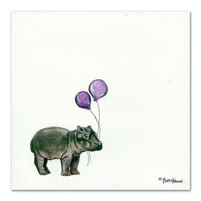 Americanflat Nursery Hippo' by Britt Hallowell Art Print