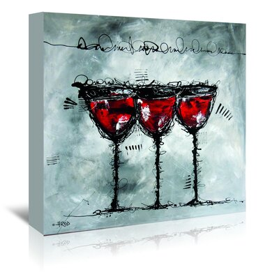 Americanflat 'Vino 3-1' by Annie Rodrigue Art Print Wrapped on Canvas