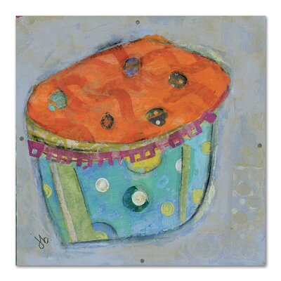 Americanflat Cupcake I (Orange Icing)' by Julie Beyer Art Print