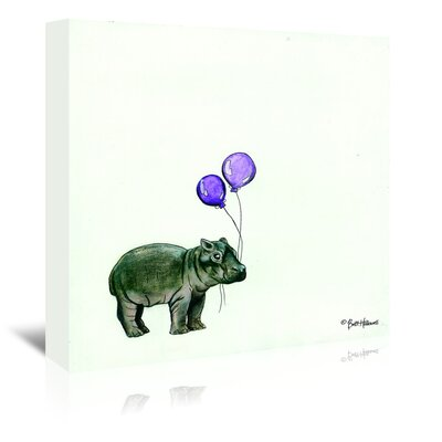 Americanflat 'Nursery Hippo' by Britt Hallowell Art Print Wrapped on Canvas