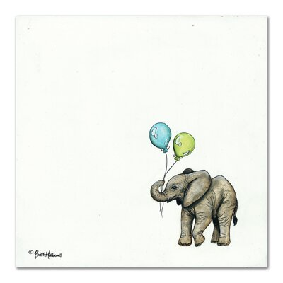 Americanflat 'Nursery Elephant' by Britt Hallowell Art Print