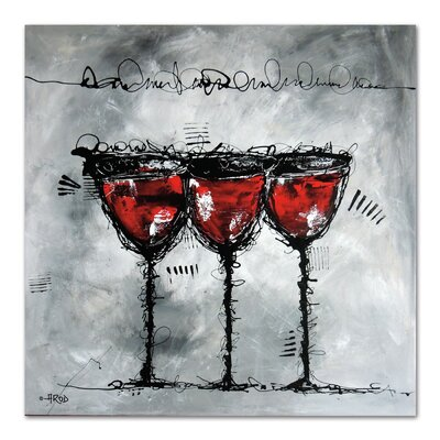 Americanflat 'Vino 3-1' by Annie Rodrigue Art Print