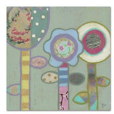Americanflat Three Flowers' by Julie Beyer Art Print