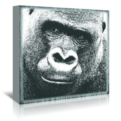 Americanflat 'Gorilla - Wisdom' by Graffi Tee Studios Graphic Art Wrapped on Canvas