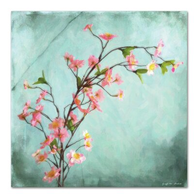 Americanflat 'Cherry Blossoms Painted on Aqua' by Graffi Tee Studios Art Print