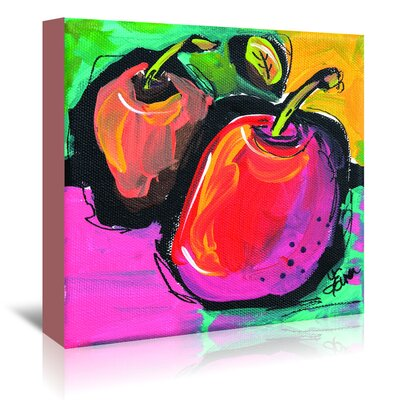Americanflat Zany Apples' by Terri Einer Art Print Wrapped on Canvas