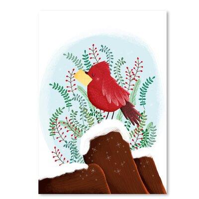 Americanflat 'Christmas Bird' by Advocate Art Graphic Art