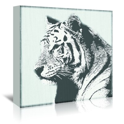 Americanflat 'Tiger - Tenacity' by Graffi Tee Studios Photographic Print Wrapped on Canvas
