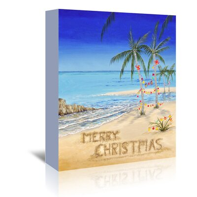 Americanflat 'Coastal Christmas' by Advocate Art Vintage Advertisement Wrapped on Canvas