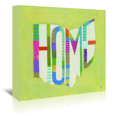 Americanflat Ohio Home' by Julie Beyer Art Print Wrapped on Canvas