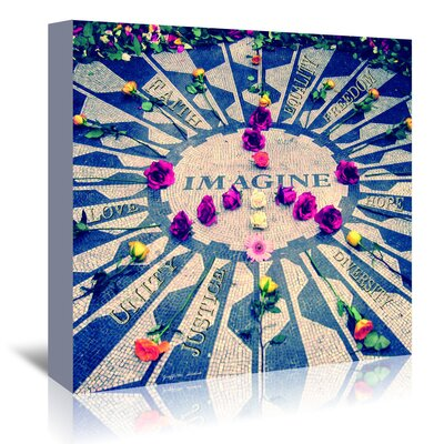 Americanflat 'Imagine' by Graffi Tee Studios Graphic Art Wrapped on Canvas