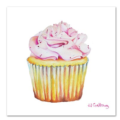 Americanflat 'Bon Gateau Rose' by JJ Galloway Art Print