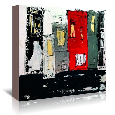 Americanflat 'Urbanit 22' by Annie Rodrigue Art Print Wrapped on Canvas